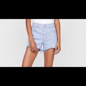New express highwaisted purple Cutoff Shorts
